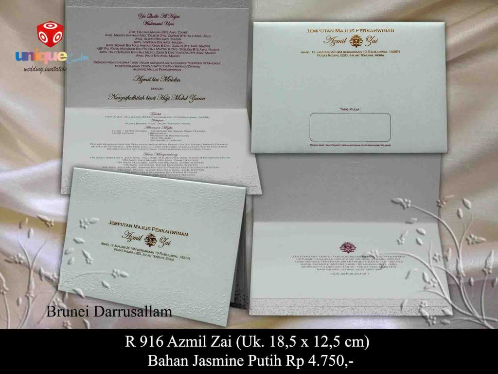 wedding invitation#Azmil-Zai
