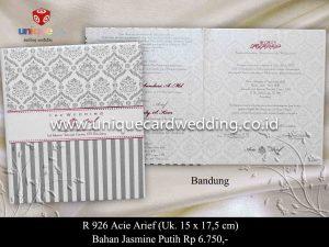 Undangan Pernikahan Acie - Arief