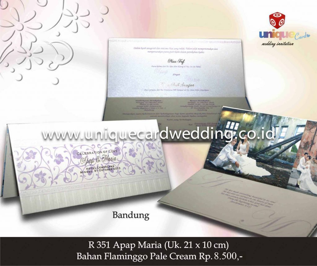 undangan pernikahan#Apap Maria