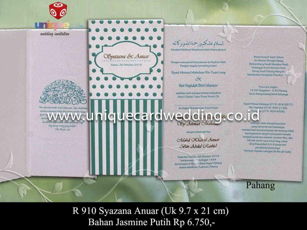 undangan pernikahan#Syazana Anuar