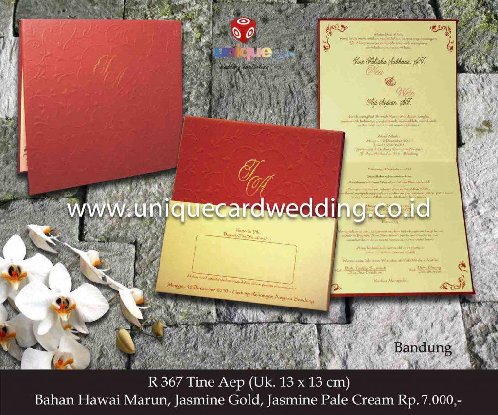 undangan pernikahan#Tine Aep