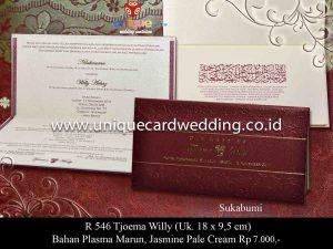 Undangan Pernikahan Tjoema - Willy