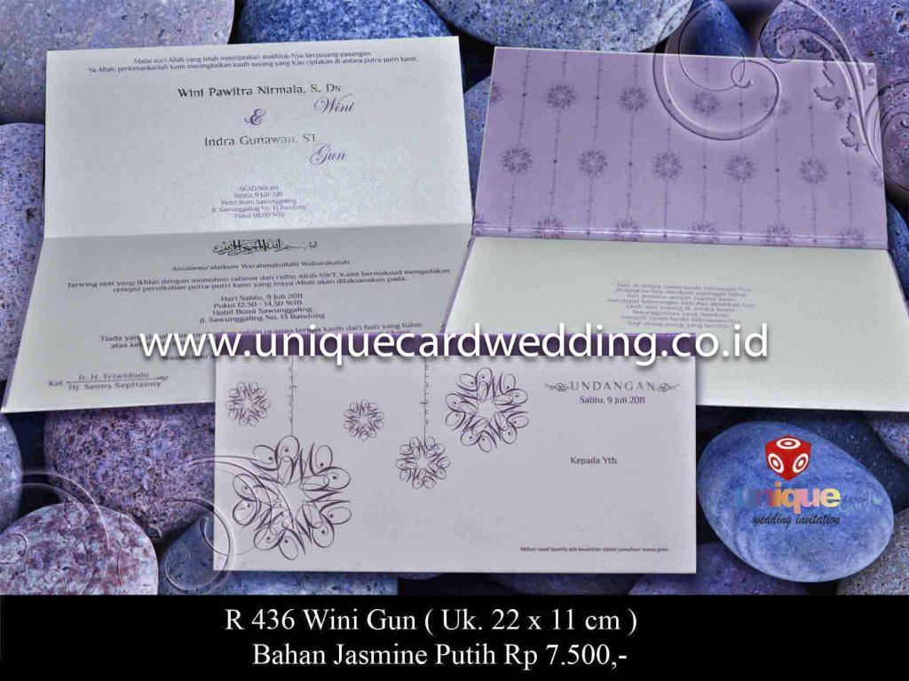 undangan pernikahan#Wini Gun