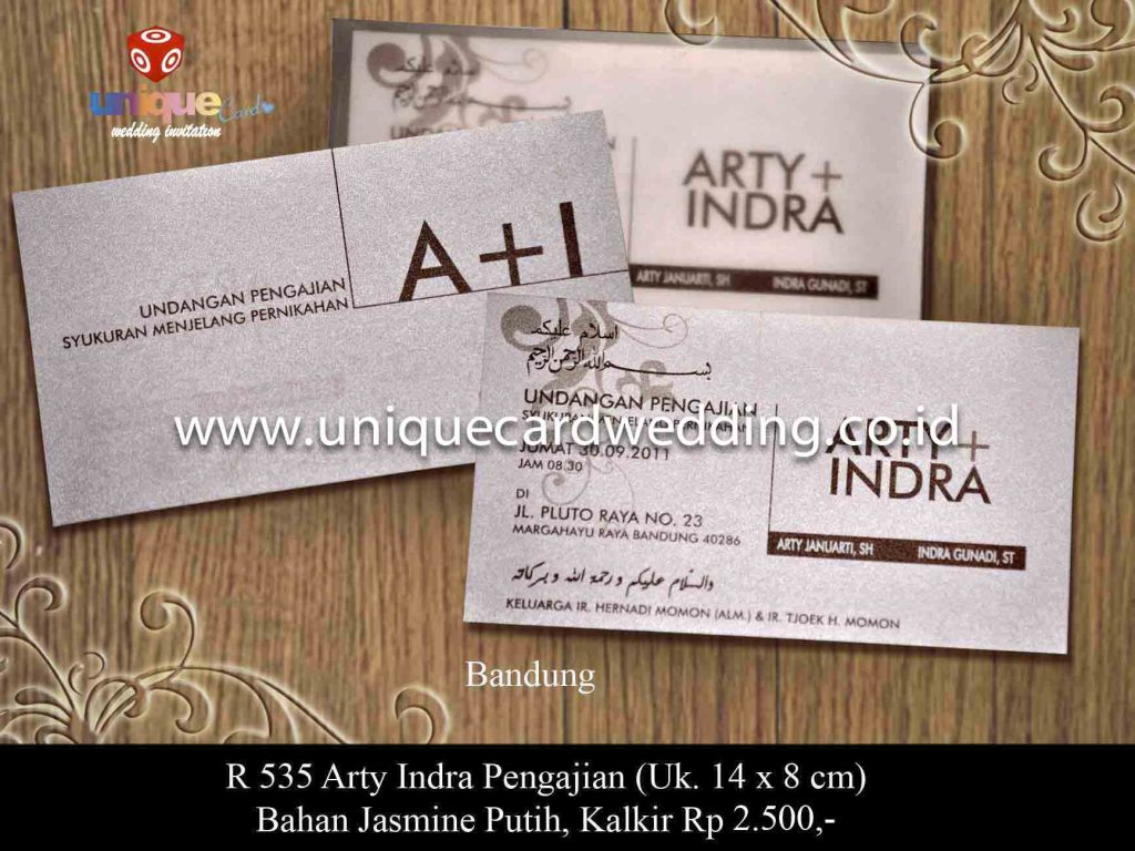 undangan pernikahan#Arty Indra Pengajian