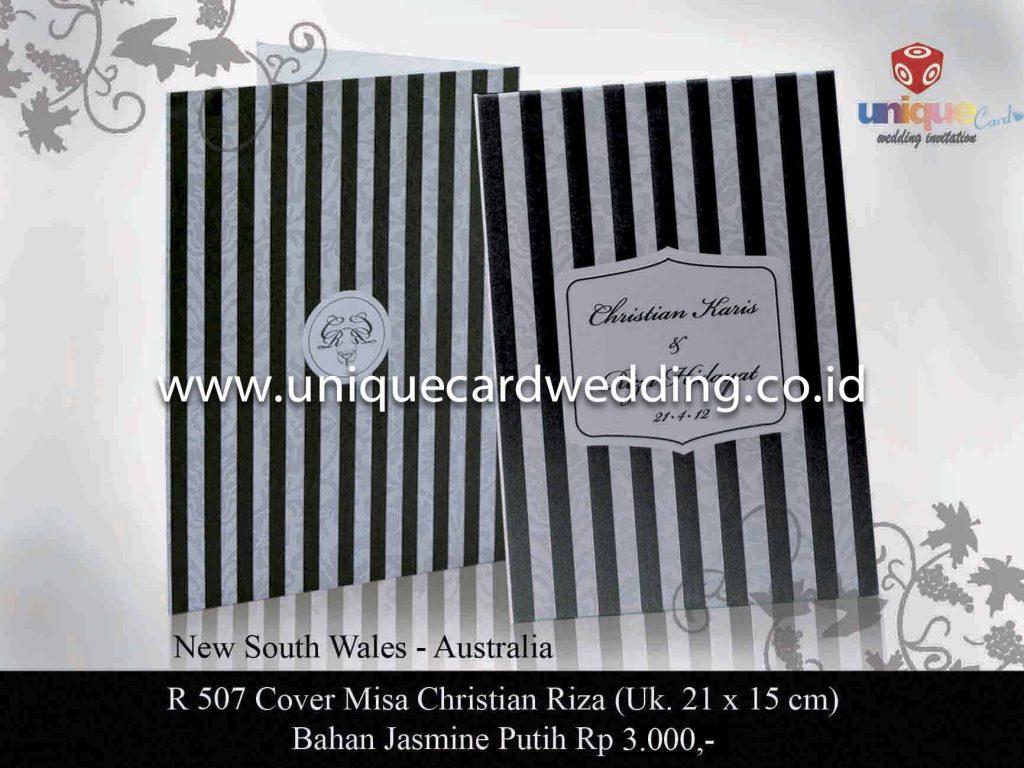undangan pernikahan#Cover Misa Christian Riza