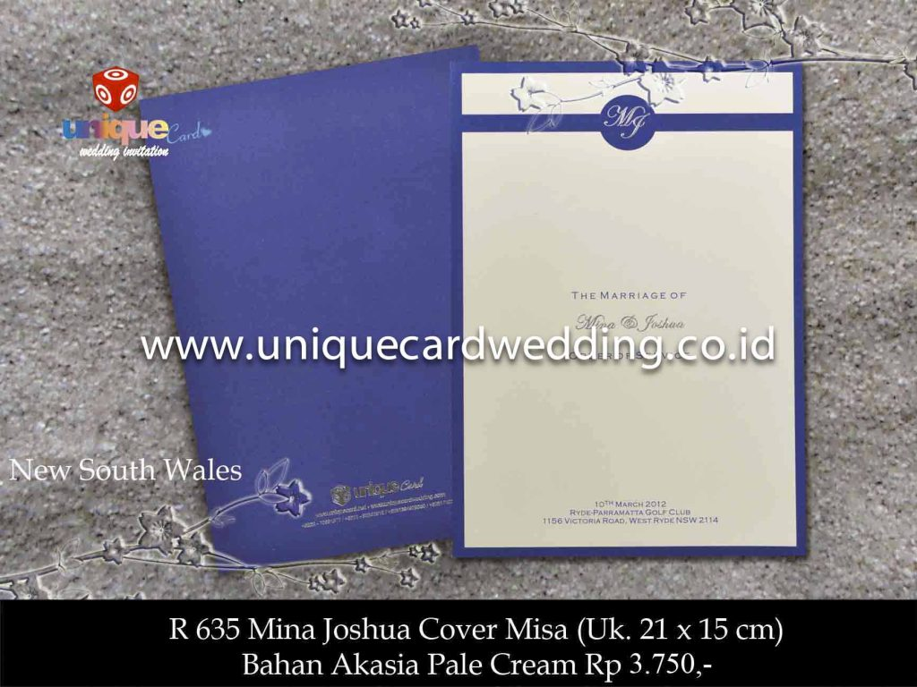 undangan pernikahan#Cover Missa Mina Joshua