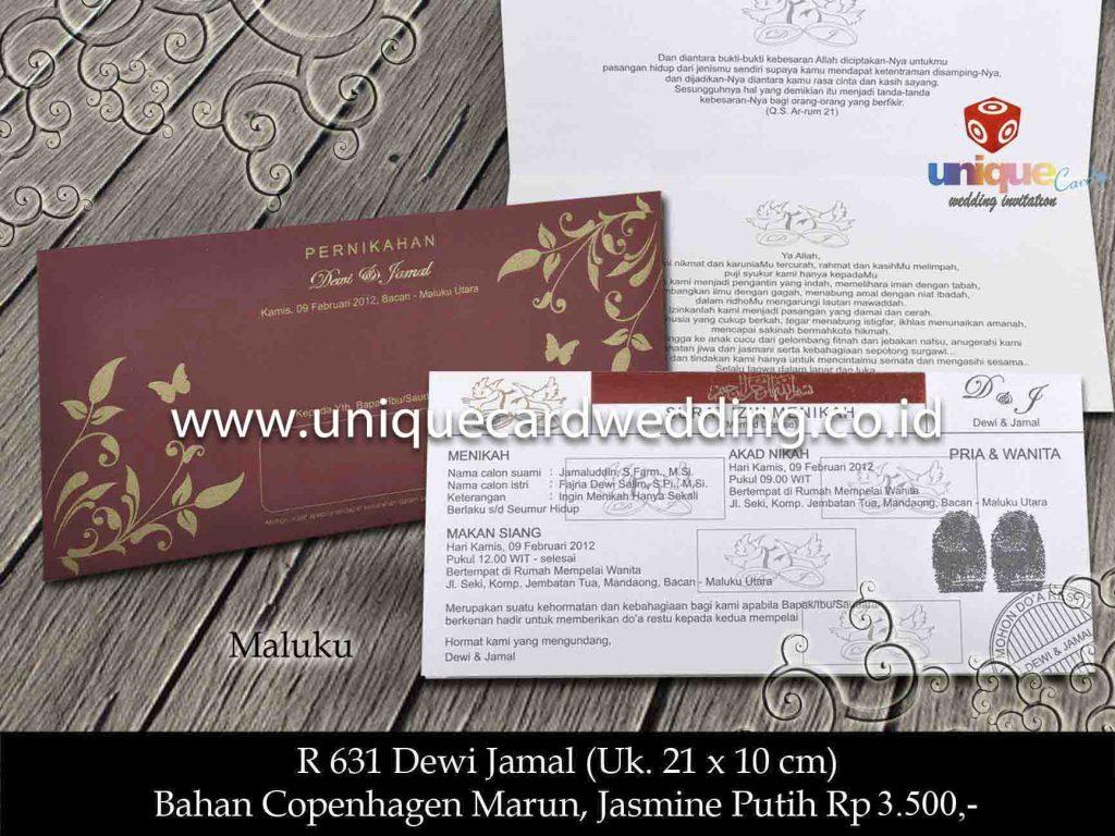 undangan pernikahan#Dewi Jamal