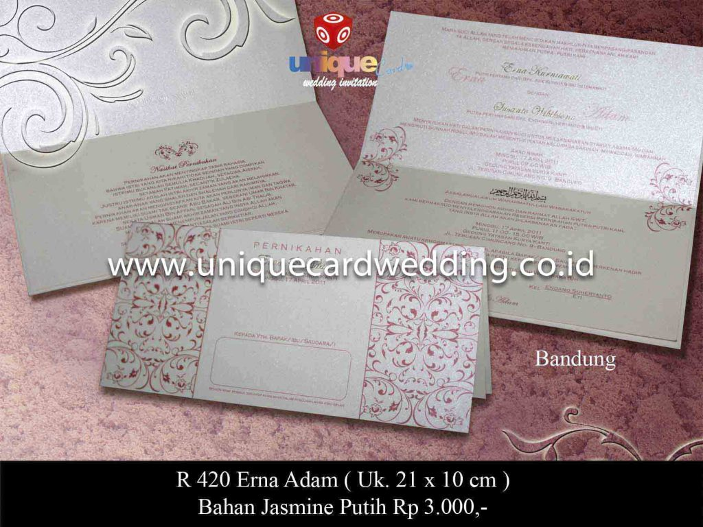 undangan pernikahan#Erna Adam