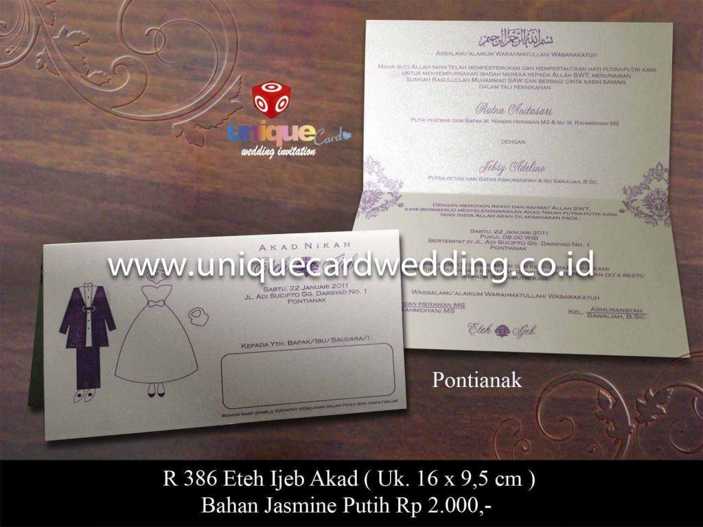 undangan pernikahan#Eteh Ijeb Akad Nikah
