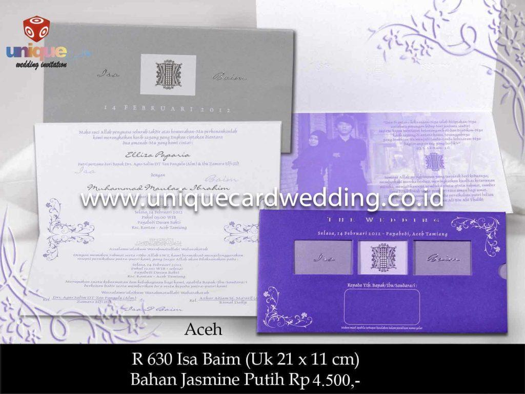 undangan pernikahan#Isa Baim