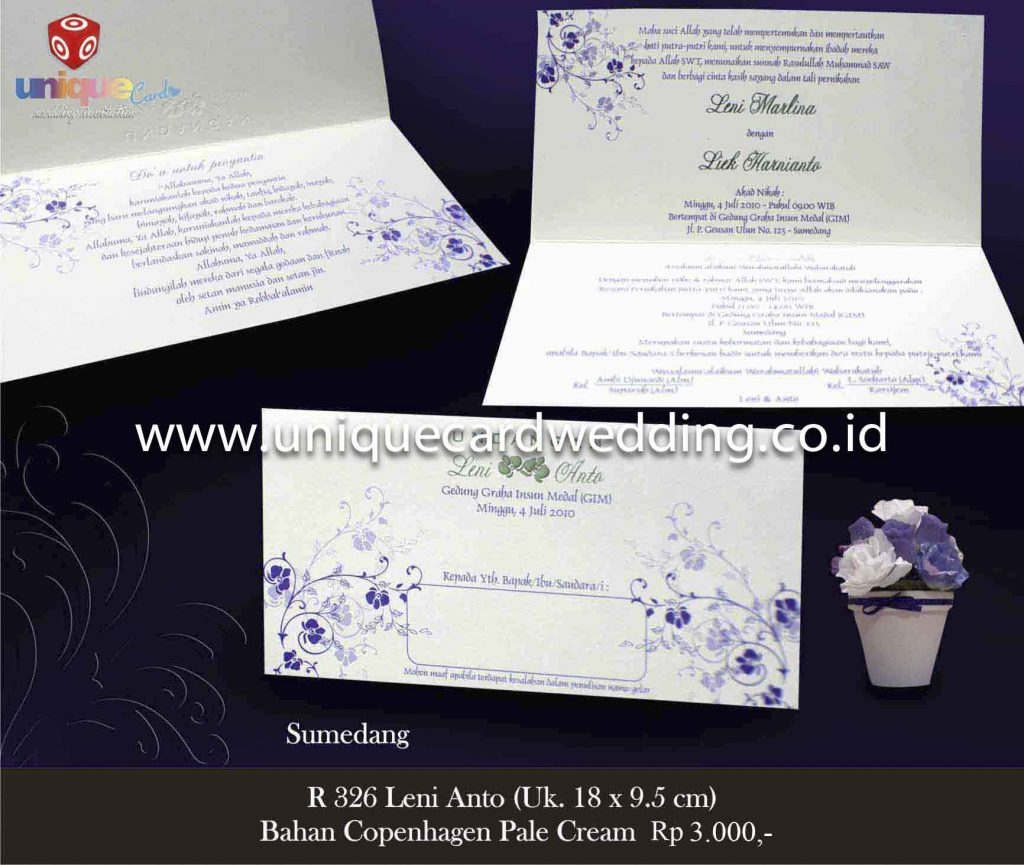 undangan pernikahan#Leni Anto