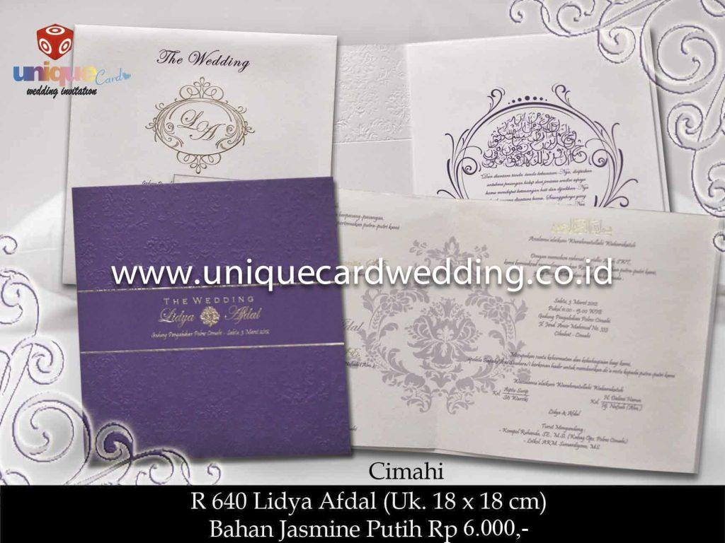 undangan pernikahan#Lidya Afdol besar
