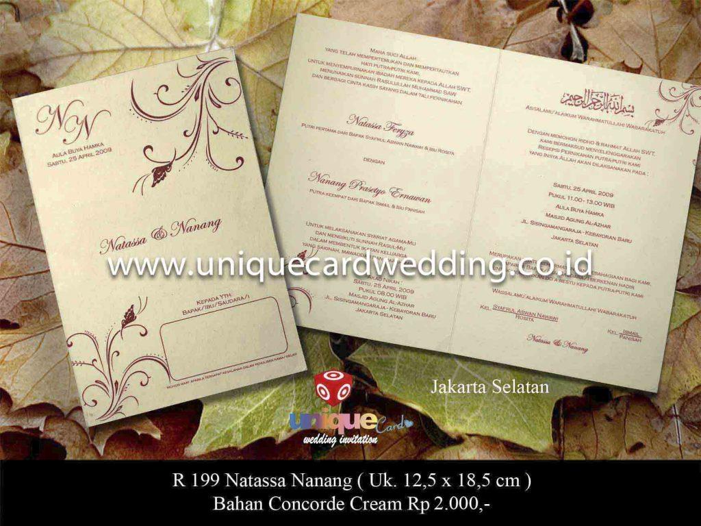 undangan pernikahan#Natasha Nanang