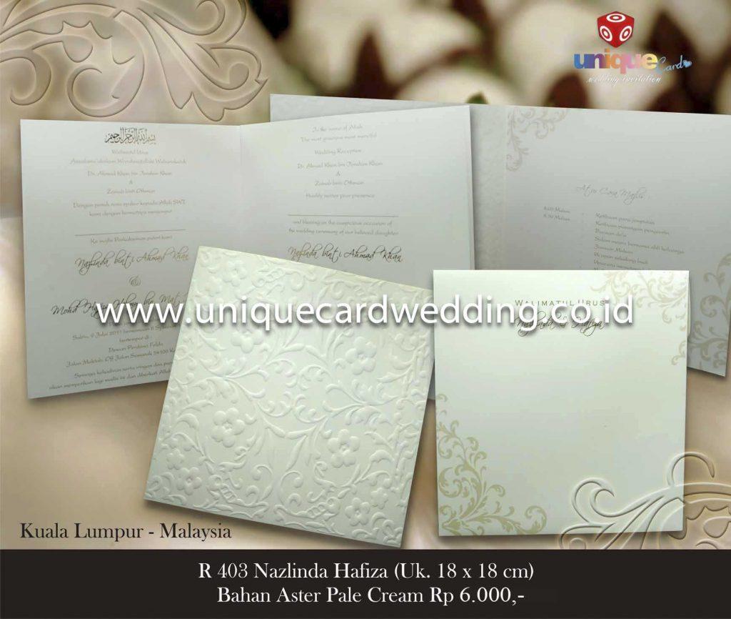 undangan pernikahan#Nazlinda Hafiza 18×18