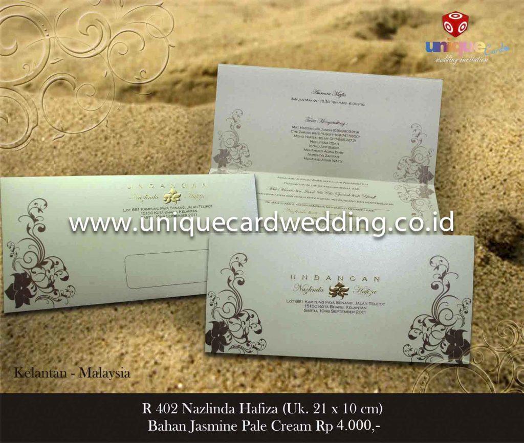 undangan pernikahan#Nazlinda Hafiza 21×10