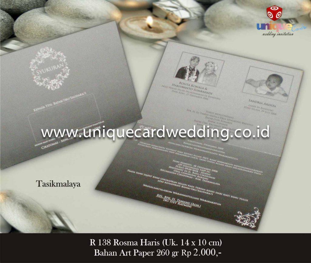 undangan pernikahan#Rosma Haris