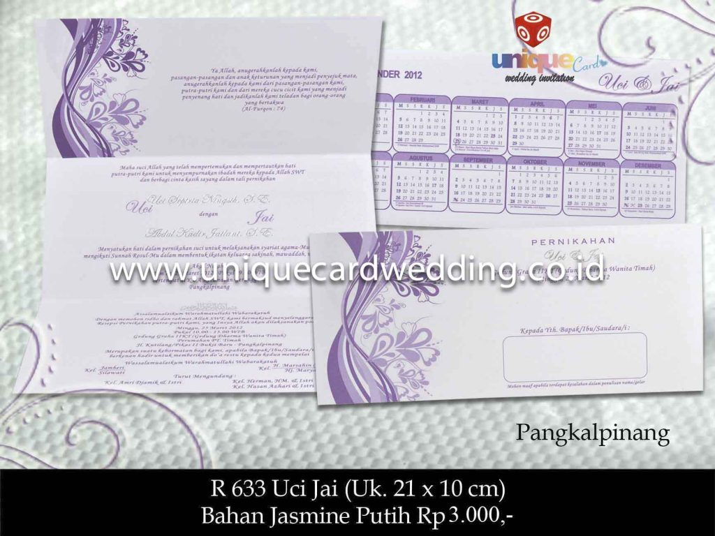 undangan pernikahan#Uci Jai