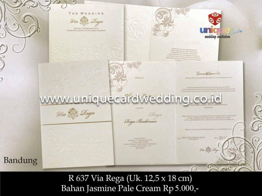 undangan pernikahan#Via Rega