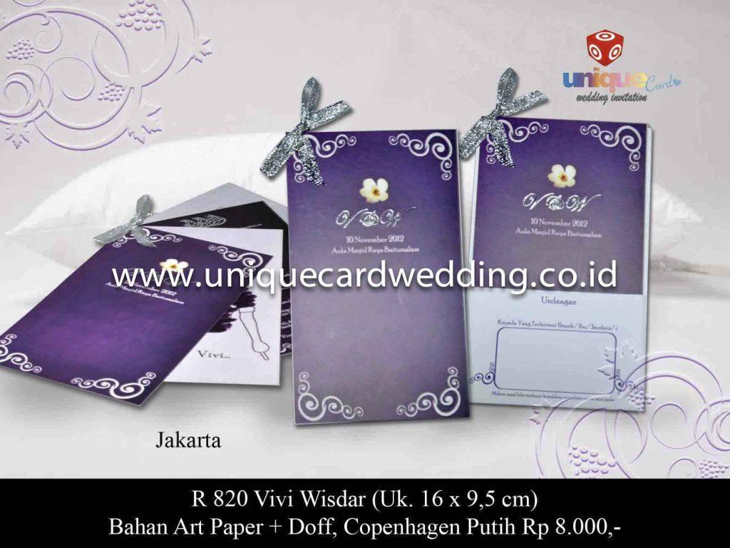 undangan pernikahan#Vivi Wisdar
