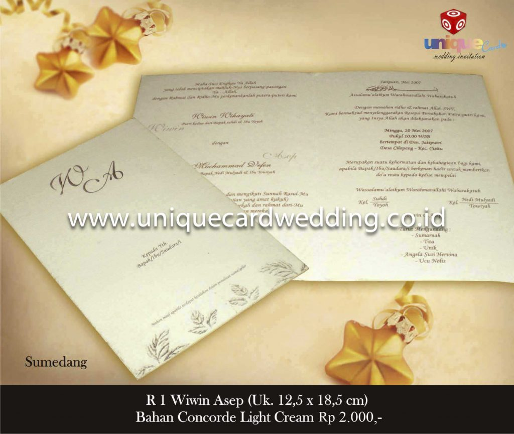 undangan pernikahan#Wiwin Asep