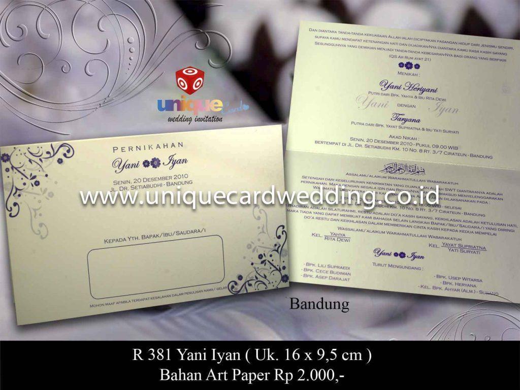 undangan pernikahan#Yani Iyan