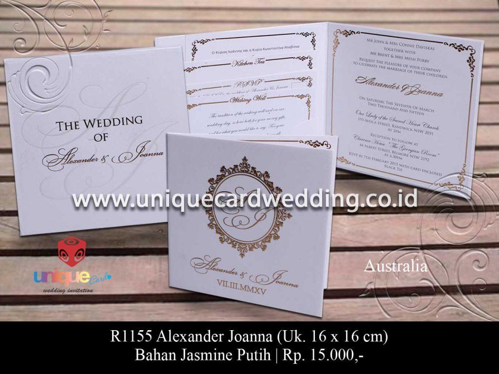 undangan pernikahan-Alexander Joana