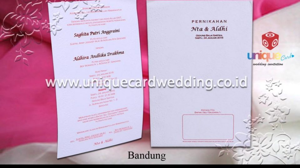undangan pernikahan-Nta Aldi