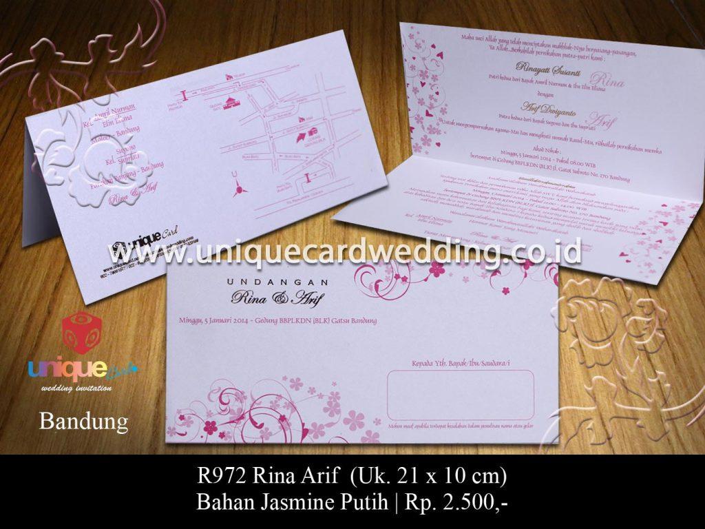 undangan pernikahan-Rina Arif