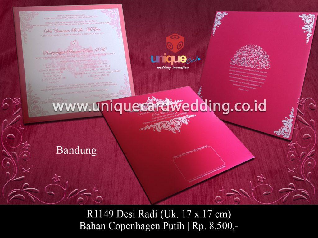 undangan pernikahan-Desi Radi