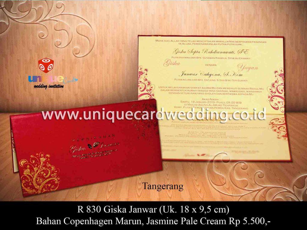 undangan pernikahan-Giska Janwar