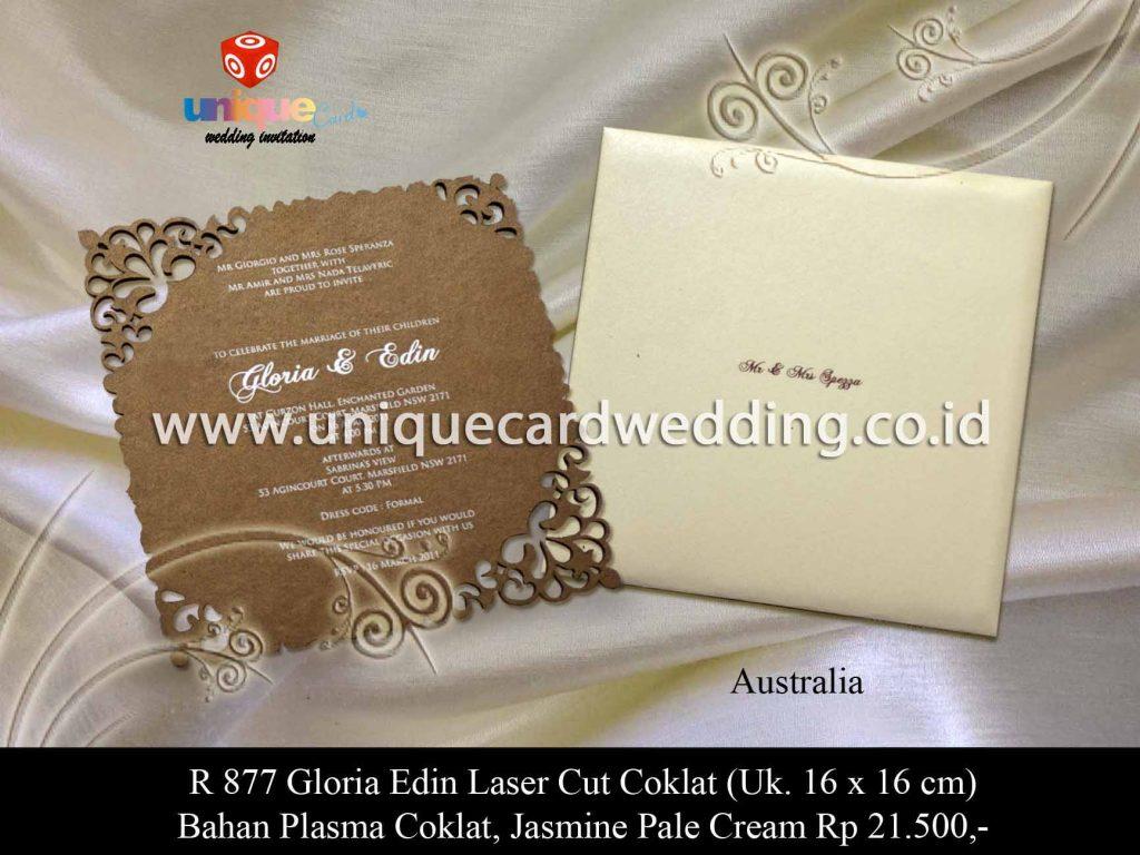 undangan pernikahan-Gloria Edin Laset Cut Coklat (2)