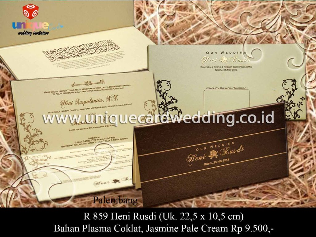 undangan pernikahan-Heni Rusdi