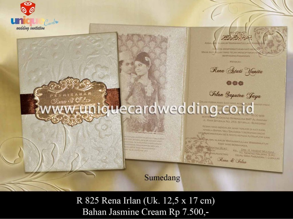 undangan pernikahan-Rena Irlan 12,5 x 17