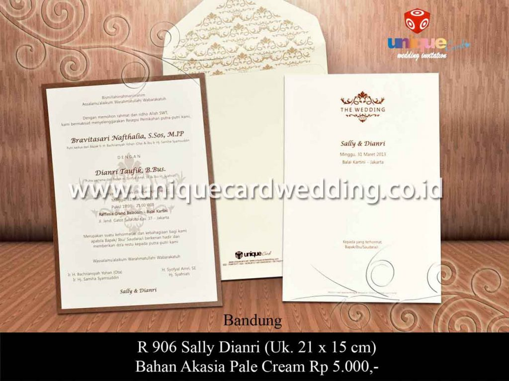 undangan pernikahan-Sally Dianri