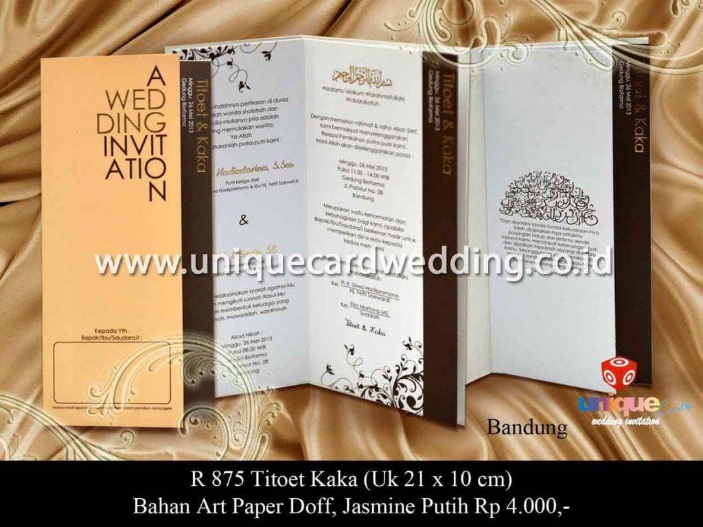 undangan pernikahan-Titoet Kaka