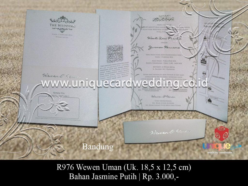 undangan pernikahan-Wewen Uman