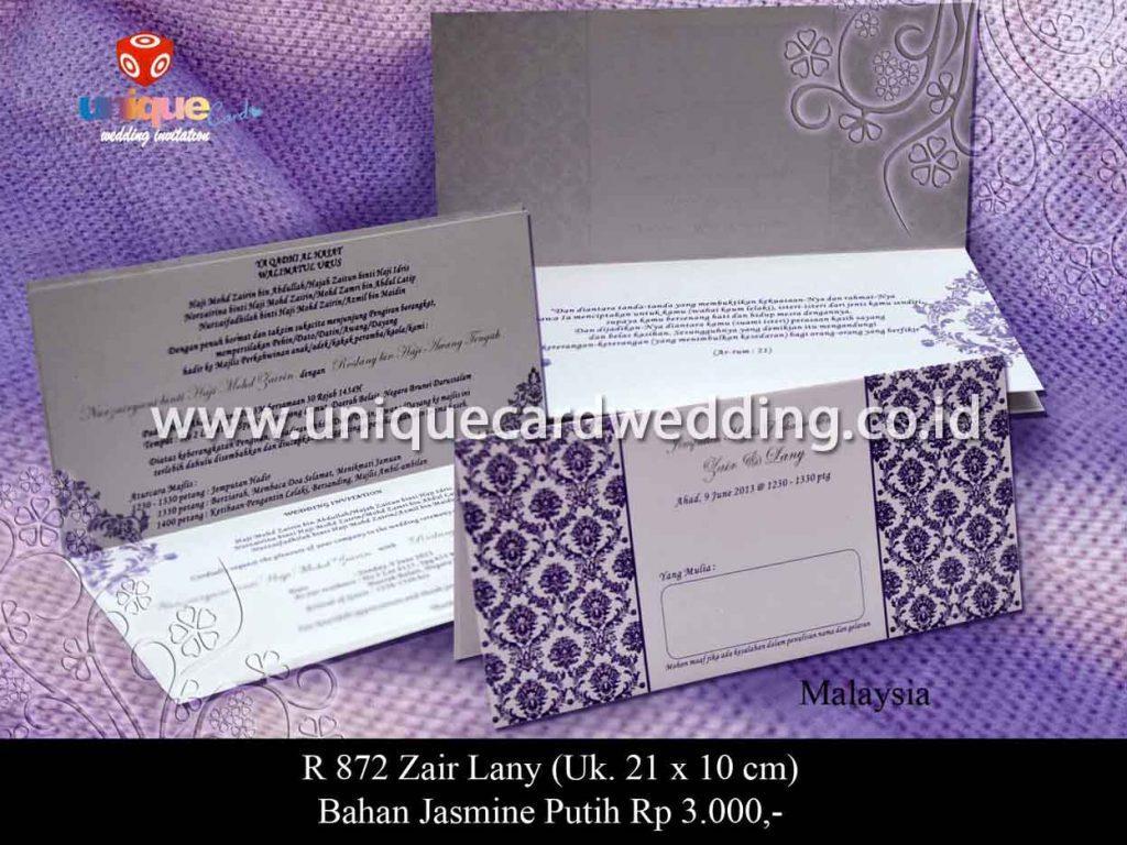 undangan pernikahan-Zair Lany