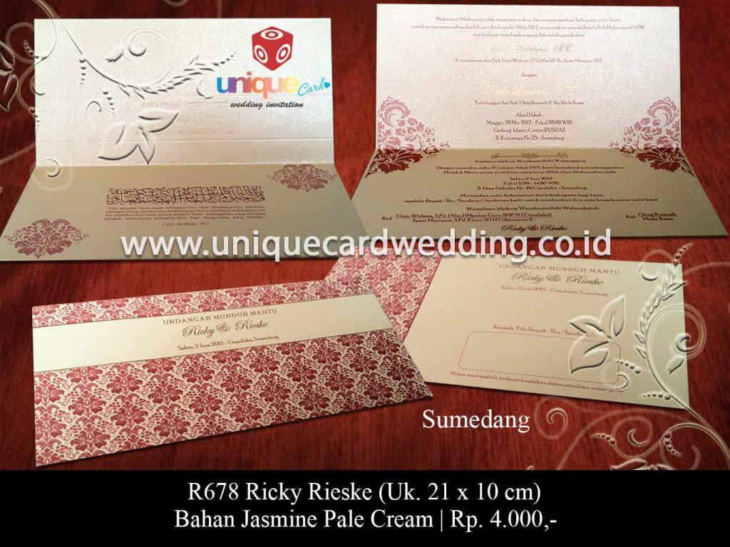 undangan pernikahan-Ricky Rieske