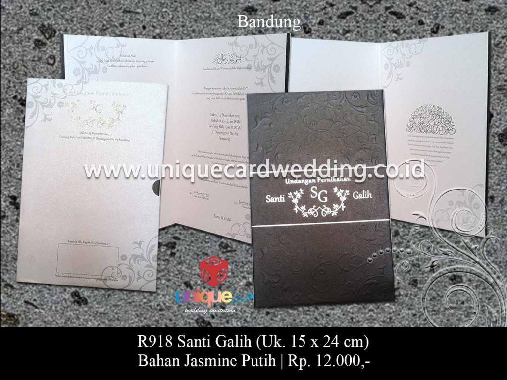 undangan pernikahan-Santi Galih