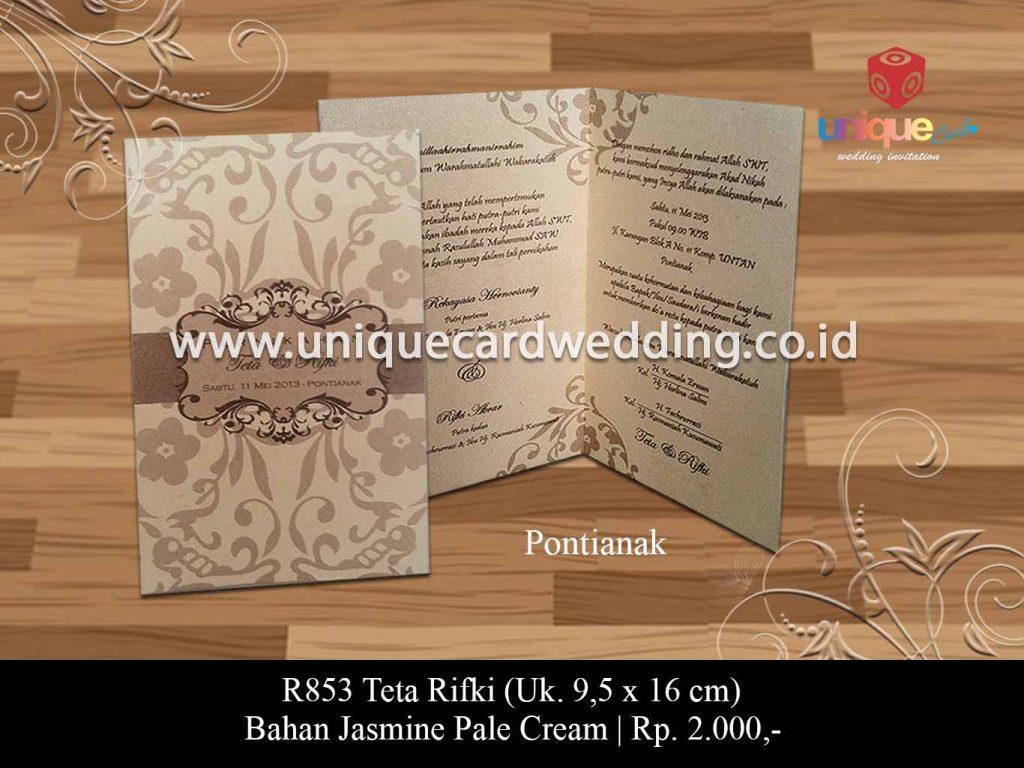 undangan pernikahan-Teta Rifki Akad nikah