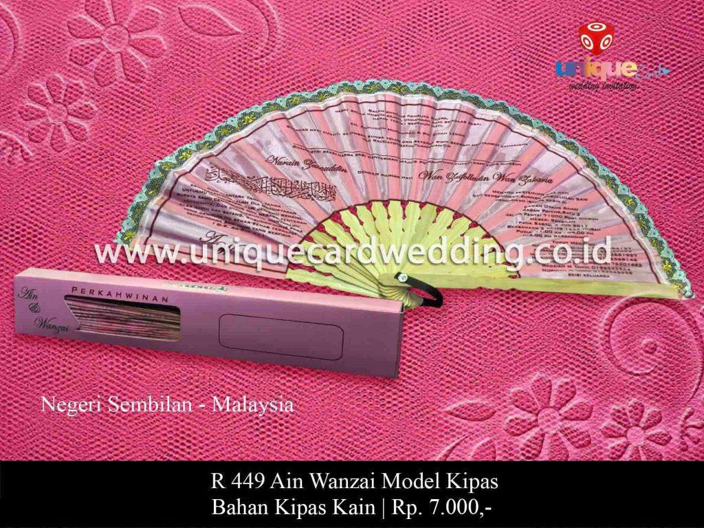 undangan pernikahan-Ain Wanzai Kipas