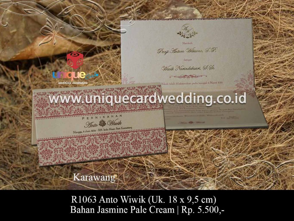 undangan pernikahan-Anto Wiwik 18 x 9,5