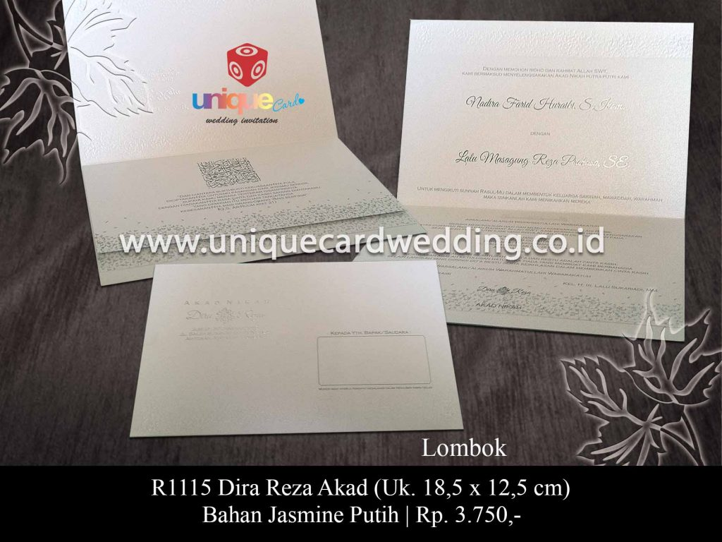 undangan pernikahan-Dira Reza Akad