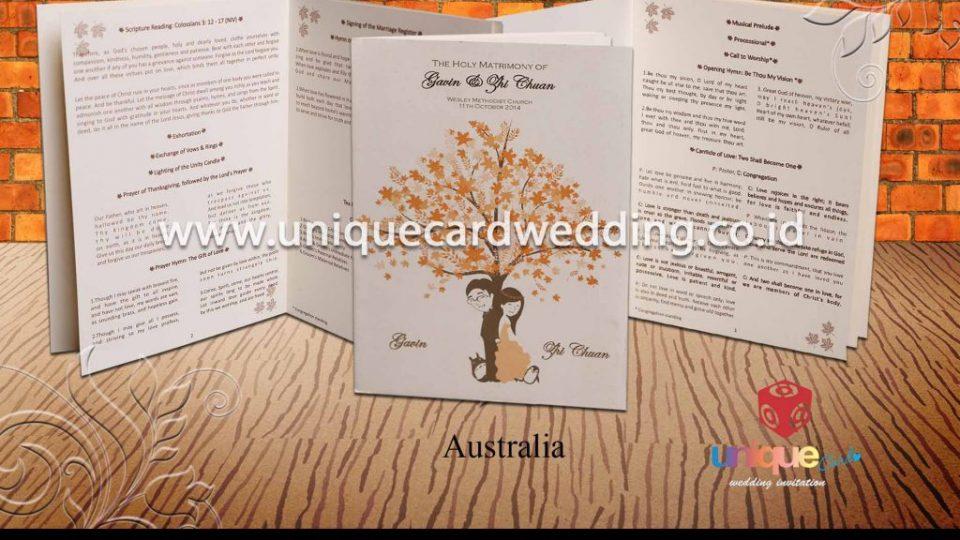 undangan pernikahan-Gavin Zhi Chuan Buku Misa