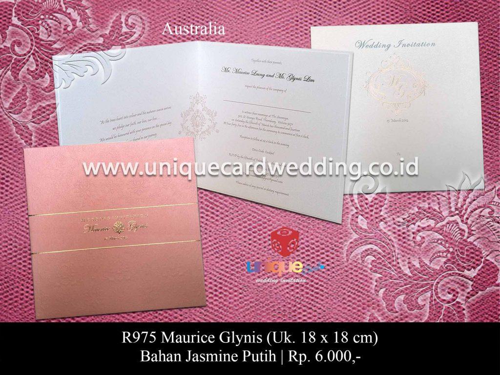 undangan pernikahan-Maurice Glynis