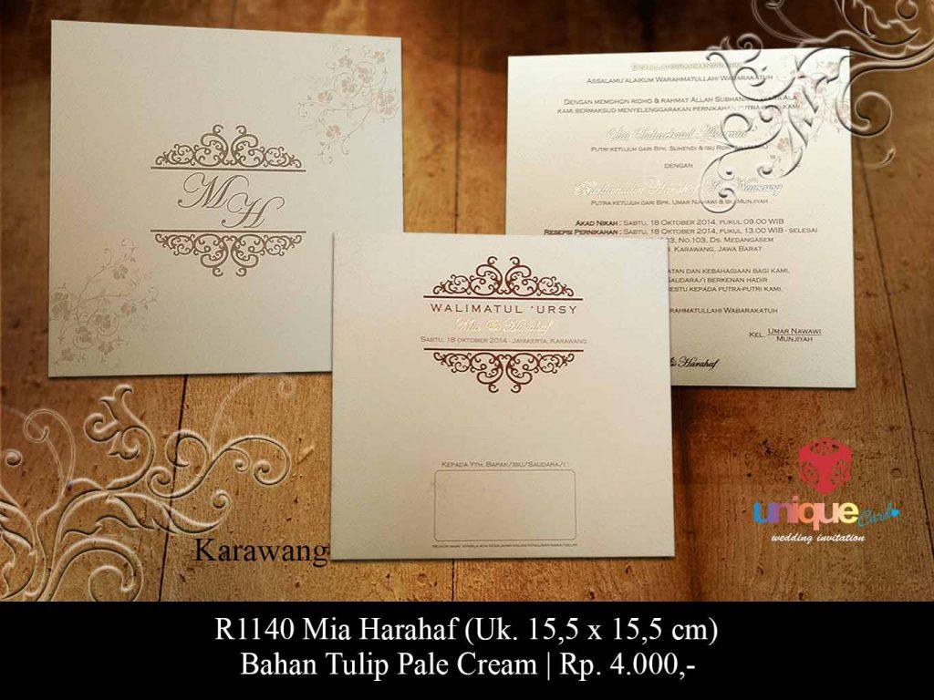 undangan pernikahan-Mia Harahaf