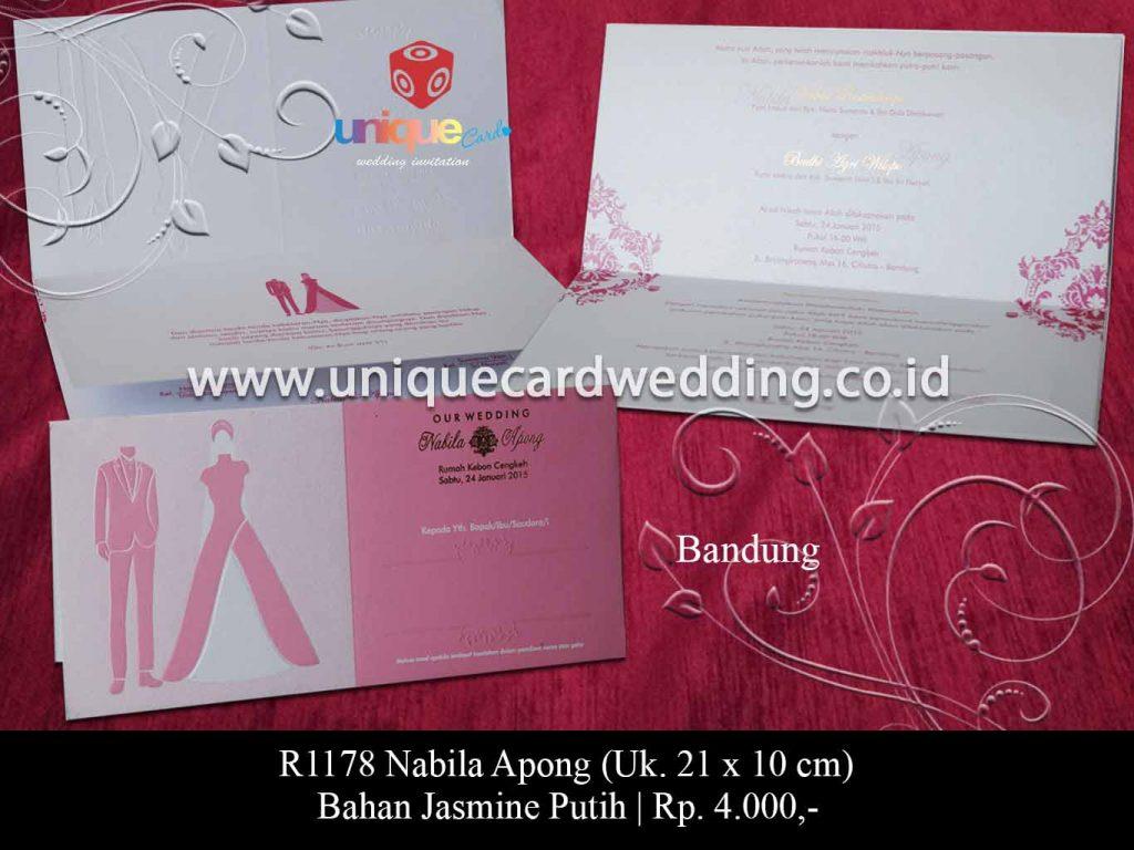 undangan pernikahan-Nabila Apong
