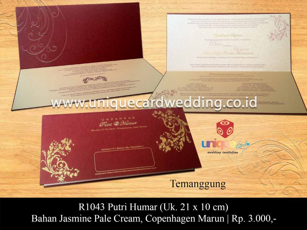 undangan pernikahan-Putri Humar