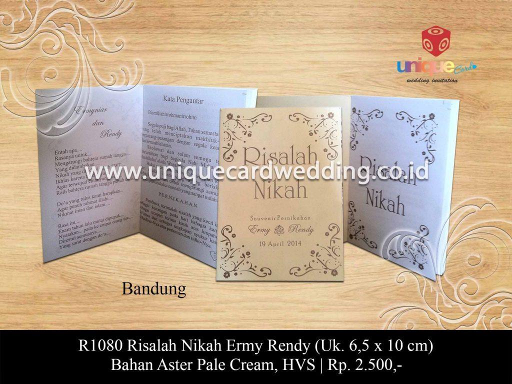 undangan pernikahan-Risalah Nikah Ermy Rendy