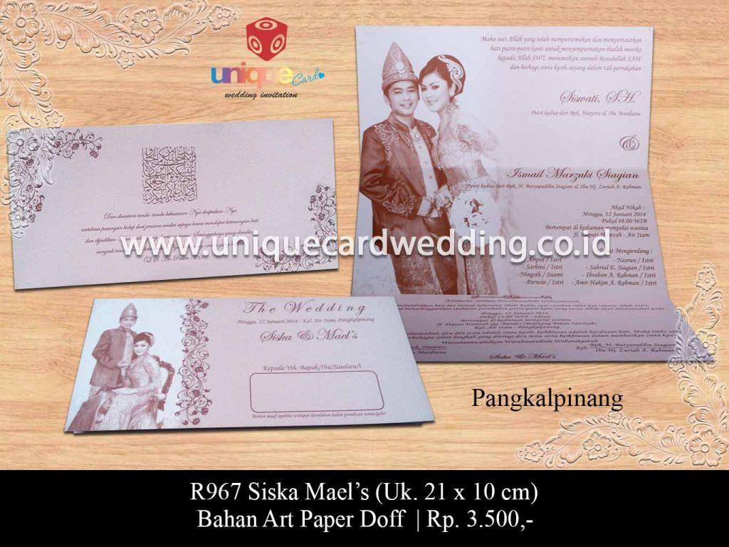 undangan pernikahan-Siska Mael's
